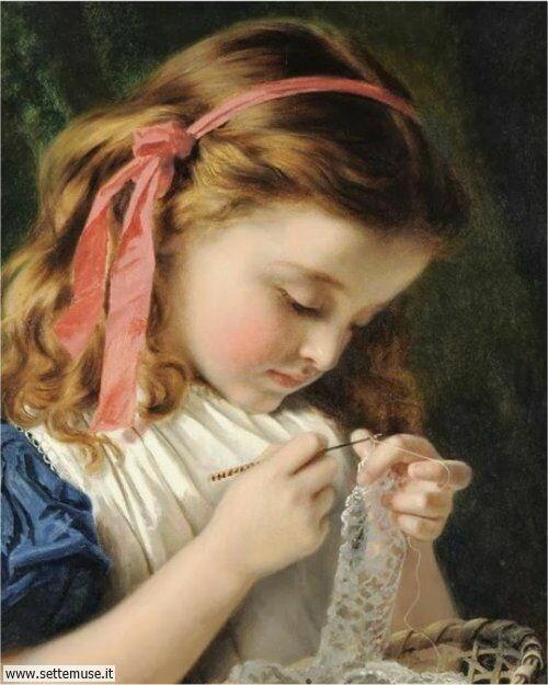 arte e dipinti su mamme-e-bambini-16