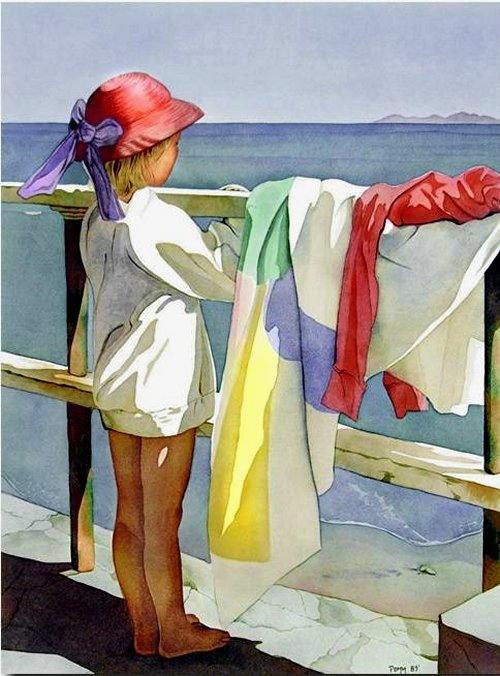 arte e dipinti su mamme-e-bambini-23