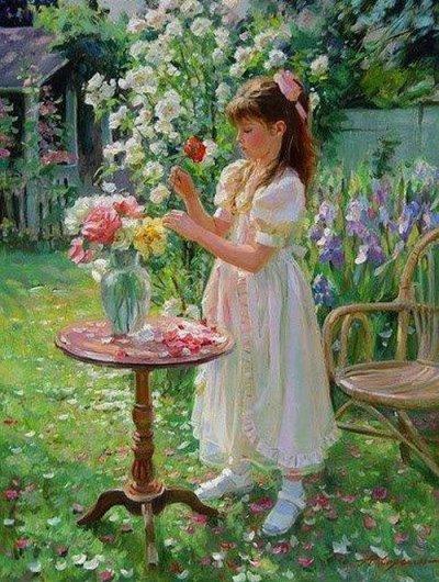arte e dipinti su mamme-e-bambini-102