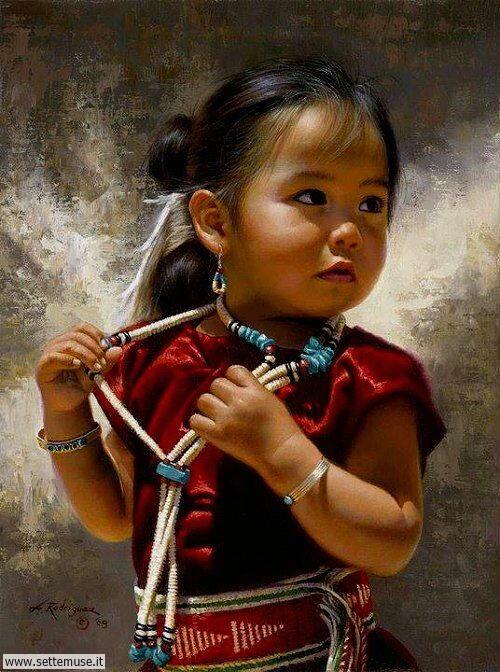 arte e dipinti su mamme-e-bambini-Alfredo Rodriguez