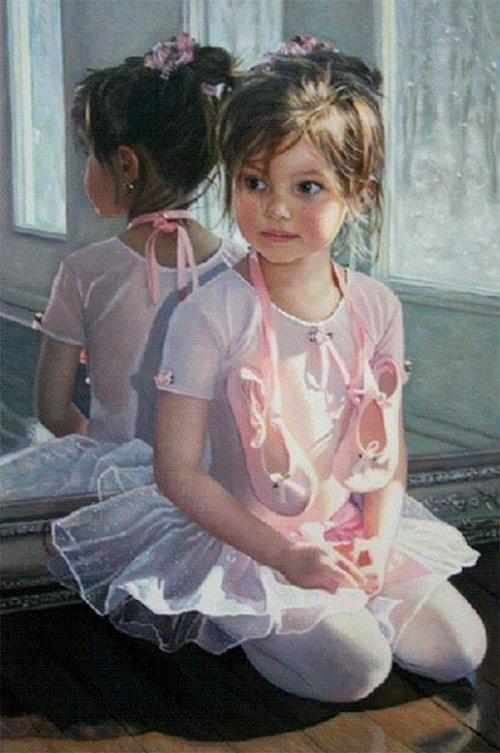 arte e dipinti su mamme-e-bambini-Chantal Poulin