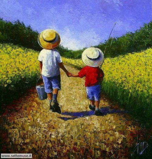 arte e dipinti su mamme-e-bambini-Dima Dmitriev