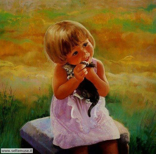 arte e dipinti su mamme-e-bambini-Donald Zolan