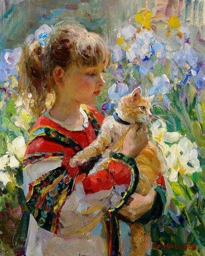 arte e dipinti su mamme-e-bambini-103