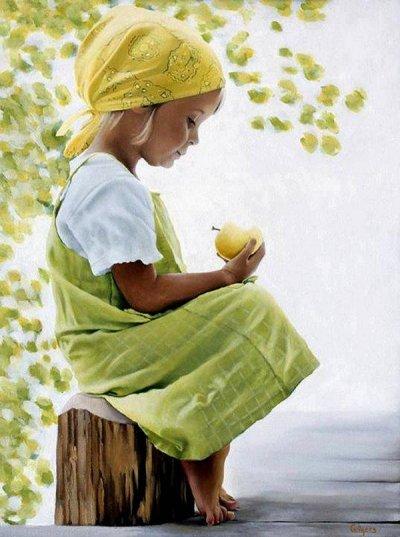 arte e dipinti su mamme-e-bambini-104