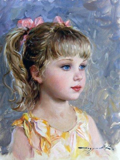 arte e dipinti su mamme-e-bambini-105