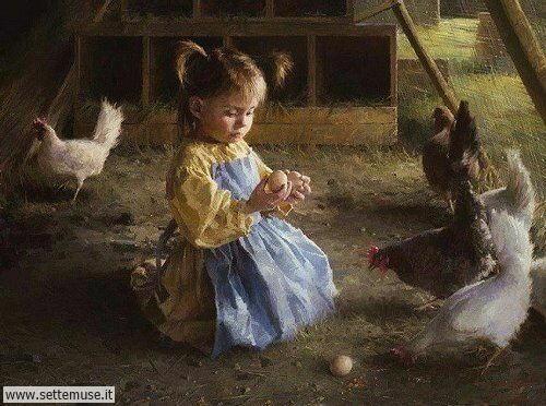arte e dipinti su mamme-e-bambini-Morgan Weistling