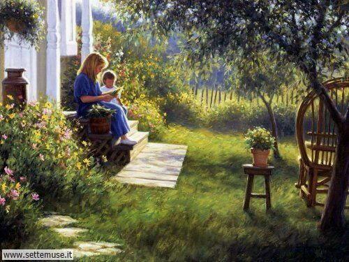 arte e dipinti su mamme-e-bambini-Robert Duncan