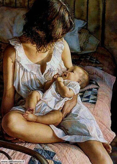 arte e dipinti su mamme-e-bambini-Steve Hanks