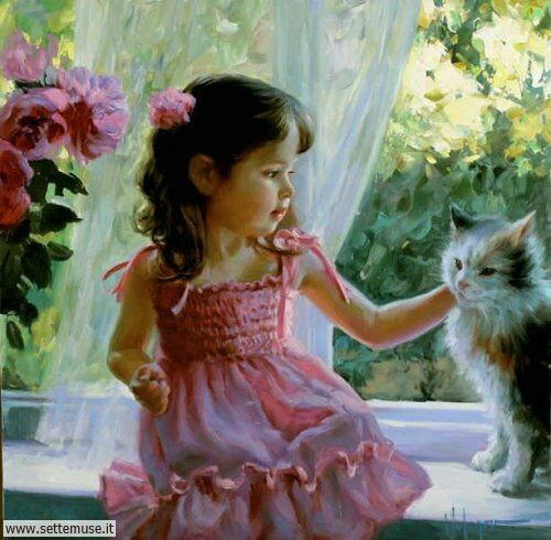 arte e dipinti su mamme-e-bambini-Vladimir Volegov 1