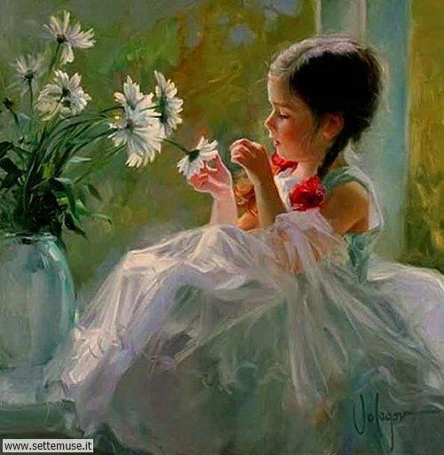 arte e dipinti su mamme-e-bambini-Vladimir Volegov 2