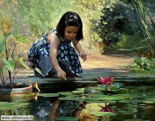 arte e dipinti su mamme-e-bambini-Vladimir Volegov 3