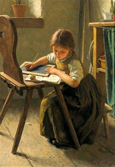 arte e dipinti su mamme-e-bambini-107