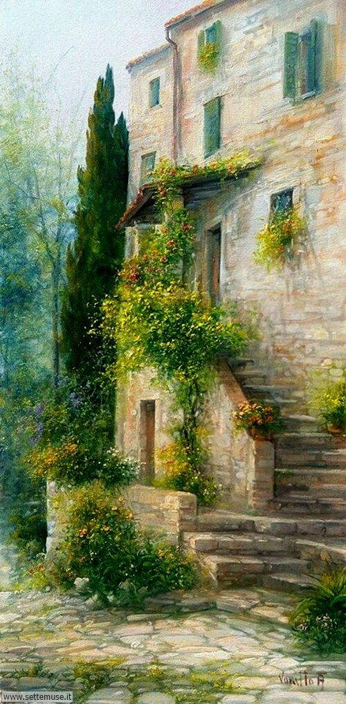 arte e dipinti su foto_paesaggi Antonietta Varallo 2