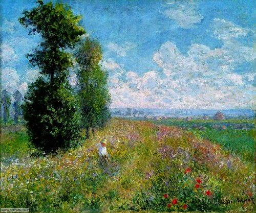 arte e dipinti su foto_paesaggi Claude Monet
