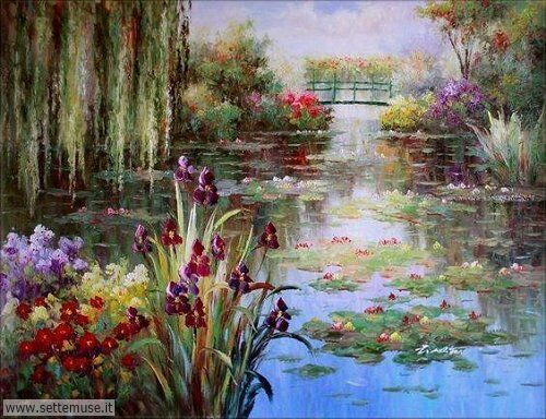 arte e dipinti su foto_paesaggi Claude Monet 2