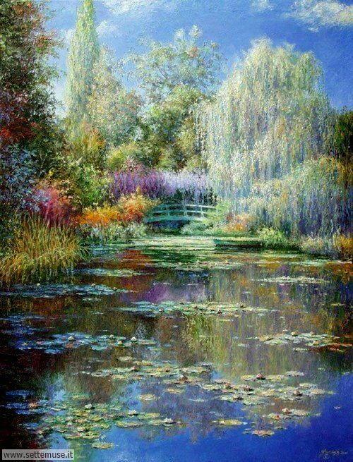 arte e dipinti su foto_paesaggi Claude Monet 4