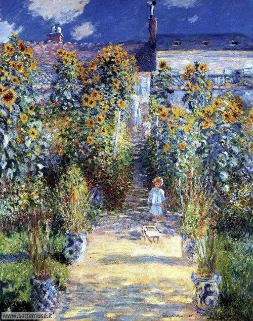 arte e dipinti su foto_paesaggi Claude Monet 5