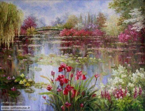 arte e dipinti su foto_paesaggi Claude Monet 6