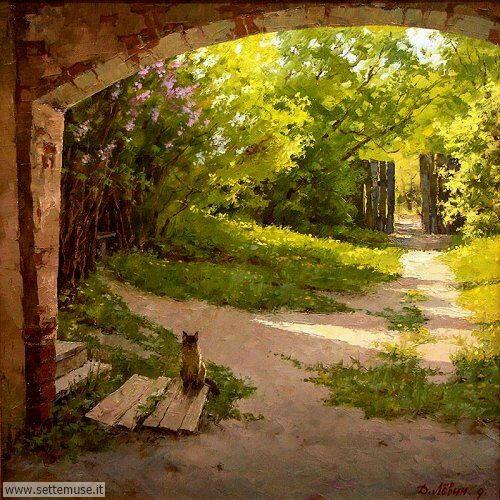 arte e dipinti su foto_paesaggi Dmitry Levin