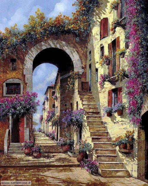 arte e dipinti su foto_paesaggi Guido Borelli 3