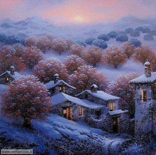 arte e dipinti su foto_paesaggi Luis Romero