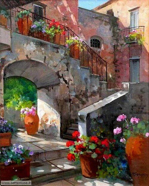 arte e dipinti su foto_paesaggi Maria Serafina