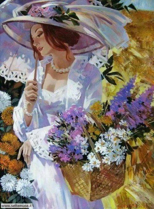 arte e dipinti su ritratti-femminili Alex Lashkevich