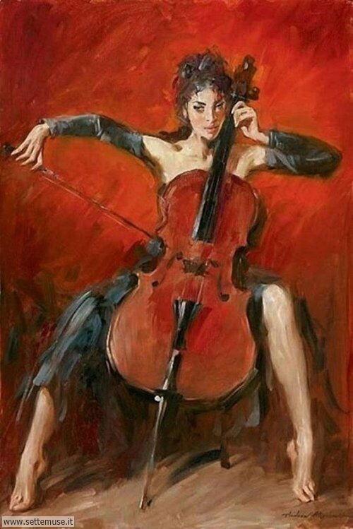 arte e dipinti su ritratti-femminili Andrew Atroshenko