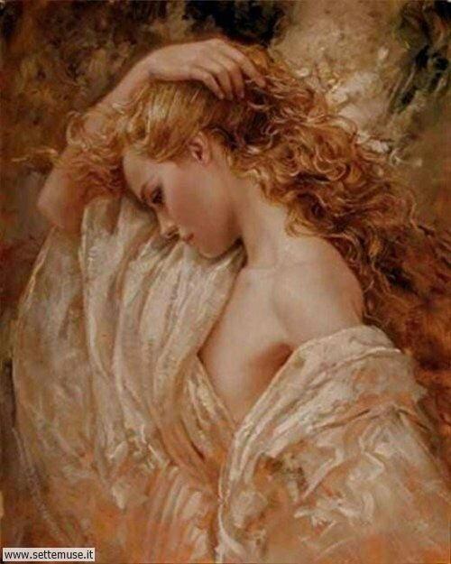 arte e dipinti su ritratti-femminili Bruno Di Maio