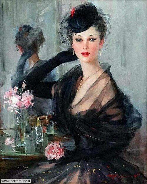 arte e dipinti su ritratti-femminili Konstantin Razumov 3