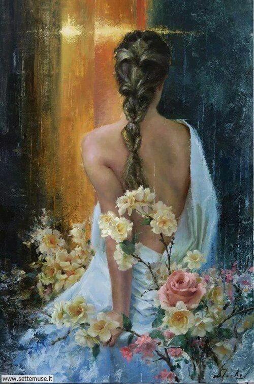 arte e dipinti su ritratti-femminili Kyle Stuckey