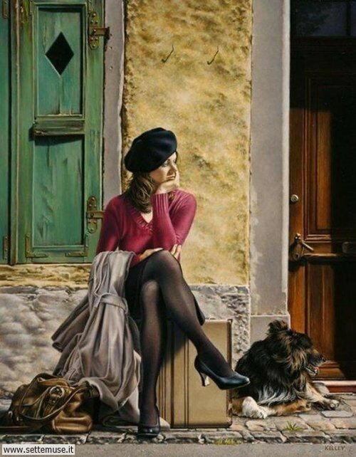 arte e dipinti su ritratti-femminili Paul Kelley