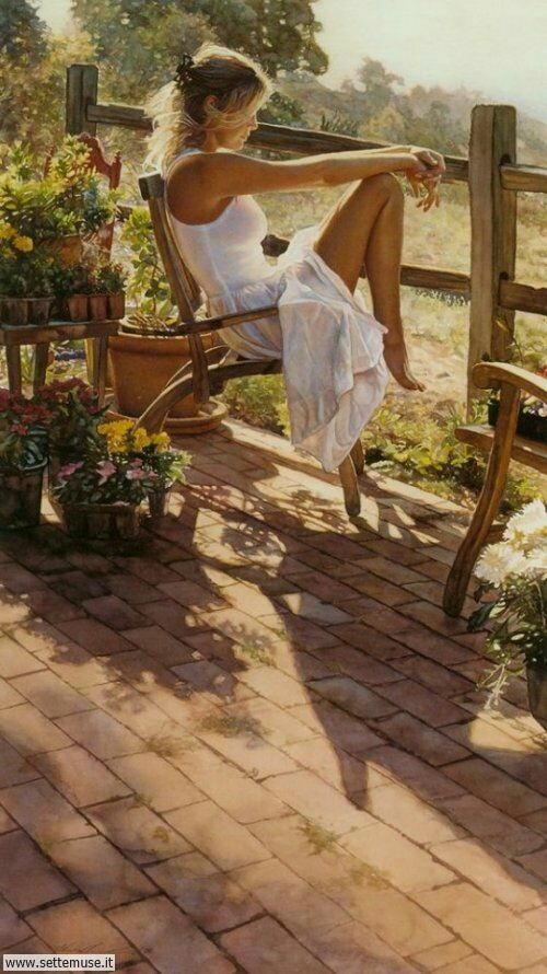 arte e dipinti su ritratti-femminili Steve Hanks