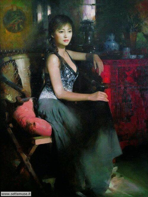 arte e dipinti su ritratti-femminili Un lui