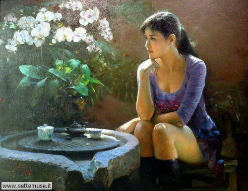 arte e dipinti su ritratti-femminili Un Lui 2