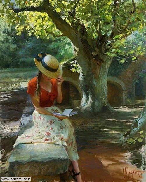 arte e dipinti su ritratti-femminili Vladimir Volegov