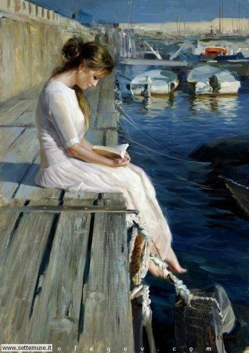 arte e dipinti su ritratti-femminili Vladimir Volegov 2