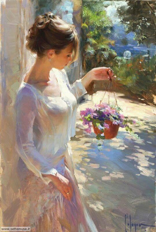 arte e dipinti su ritratti-femminili Vladimir Volegov 3