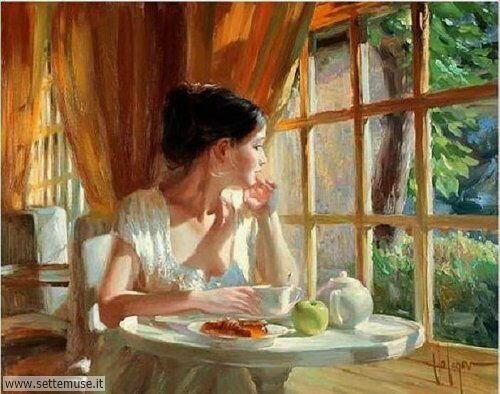 arte e dipinti su ritratti-femminili Vladimir Volegov 8