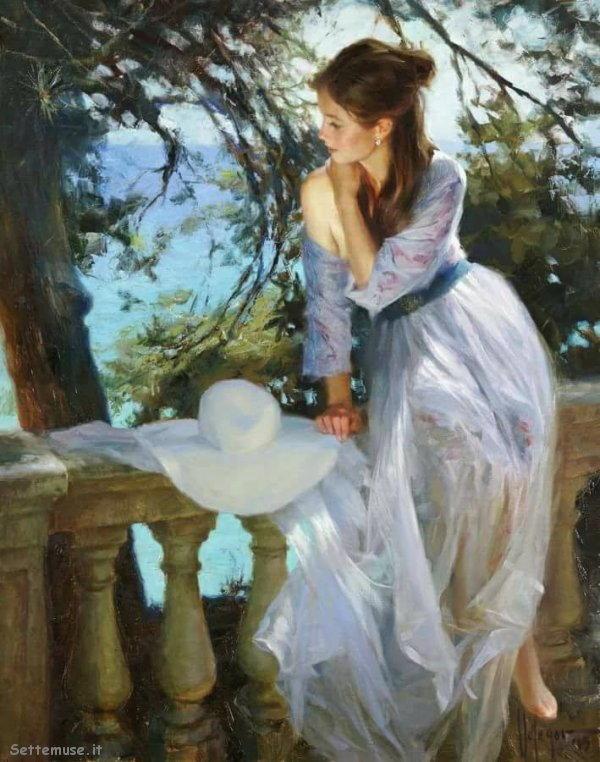 arte e dipinti su ritratti femminili Vladimir Volegov