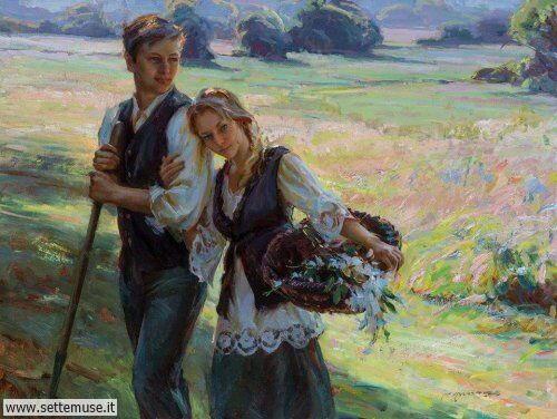 arte e dipinti su foto-romanticismo Daniel F.Gerhartz