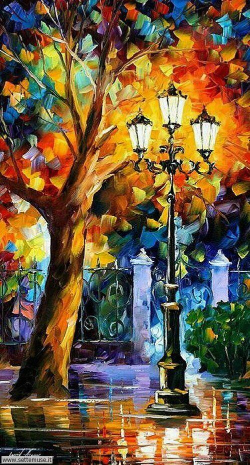 arte e dipinti su foto-romanticismo foto-romanticismo-Leonid Afremov 5