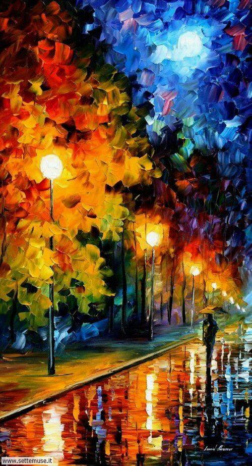 arte e dipinti su foto-romanticismo foto-romanticismo-Leonid Afremov 6
