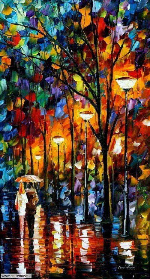 arte e dipinti su foto-romanticismo foto-romanticismo-Leonid Afremov 7