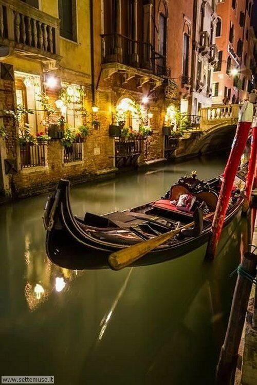 arte e dipinti su Venezia, gondole, canali, panoramiche di Venezia
