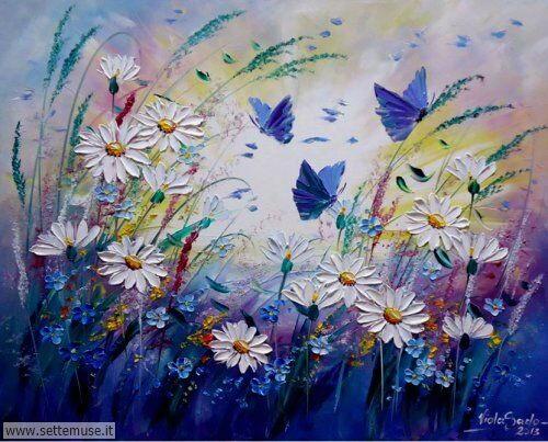 arte e dipinti su fiori di Viola Sado 01
