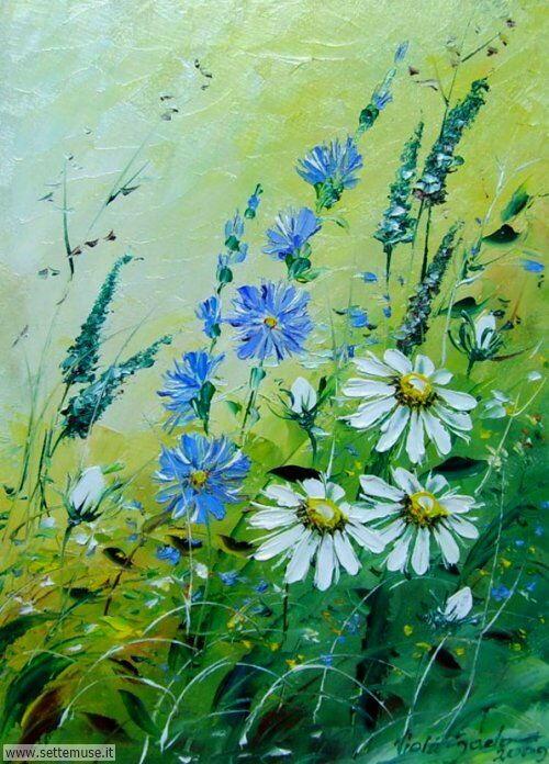 arte e dipinti su fiori di Viola Sado 11