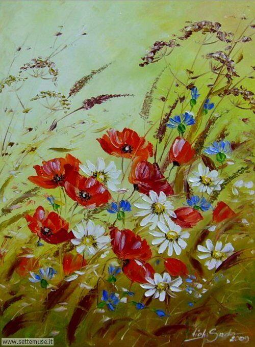 arte e dipinti su fiori di Viola Sado 14