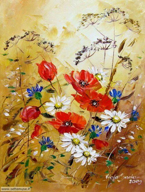 arte e dipinti su fiori di Viola Sado 15